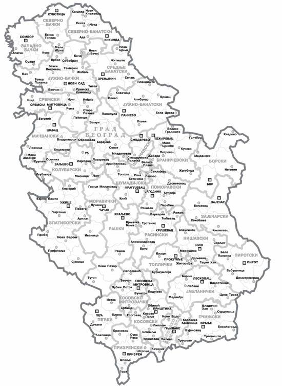 Regioni Srbije Mapa Superjoden